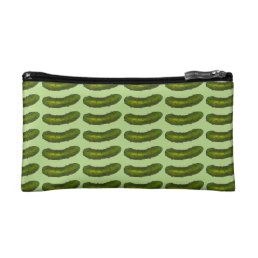 Dill Pickles Print Sour Green Kosher Pickle Foodie Cosmetic Bag