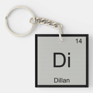 Dillan Name Chemistry Element Periodic Table Keychain