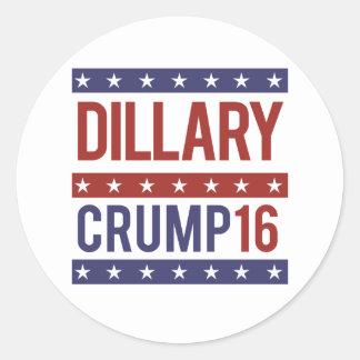 Dillary Crump 16 - - Pegatina Redonda