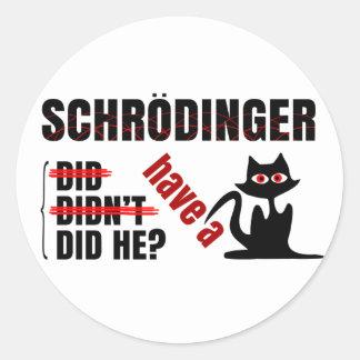Dillema de Schrodinger Pegatina Redonda