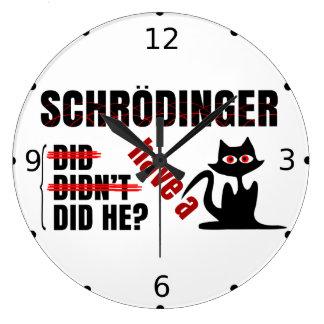 Dillema de Schrodinger Reloj Redondo Grande