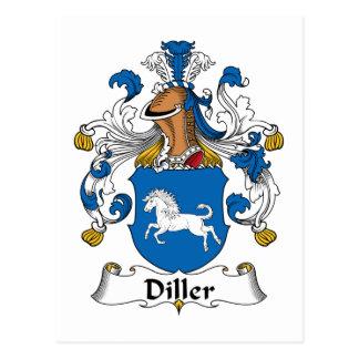 Diller Family Crest Postcard