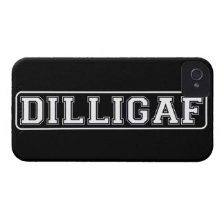 """DILLIGAF - Divertido, grosero """"hago miro como doy iPhone 4 Case-Mate Cárcasas"""