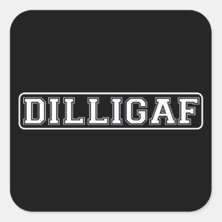 DILLIGAF - Divertido grosero hago miro como doy Pegatinas Cuadradases