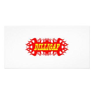 DILLIGAF Does It Look Like I Give A F Photo Greeting Card