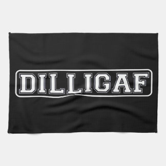 "DILLIGAF – Funny, Rude ""Do I look like I Give A ."" Hand Towel"