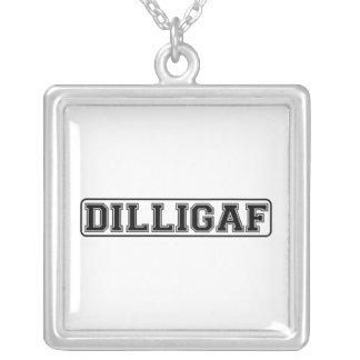 "DILLIGAF – Funny rude ""Do I look like I Give A"" Necklace"