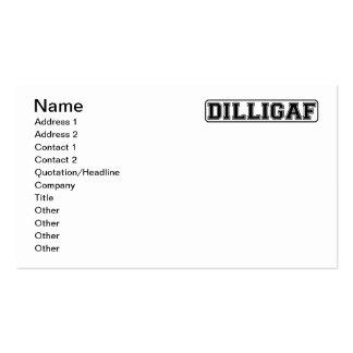 "DILLIGAF - Grosero divertido ""hace yo mira como do Tarjeta De Visita"
