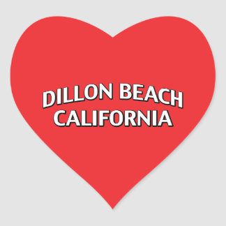 Dillon Beach California Heart Sticker