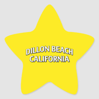 Dillon Beach California Star Sticker