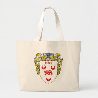 Dillon Coat of Arms (Mantled) Large Tote Bag