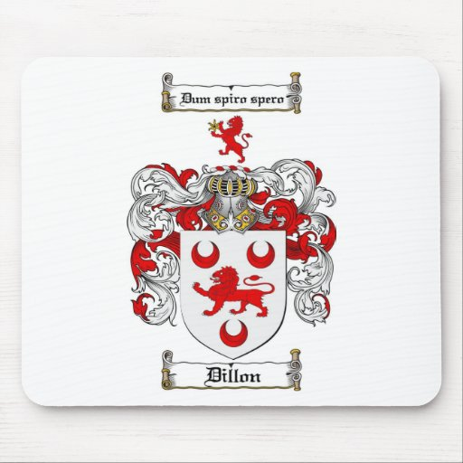 DILLON FAMILY CREST -  DILLON COAT OF ARMS MOUSE PADS