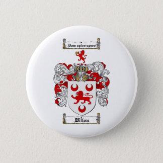 DILLON FAMILY CREST -  DILLON COAT OF ARMS PINBACK BUTTON
