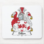 Dillon Family Crest Mouse Pads