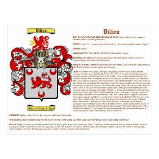 Dillon (significado) postales