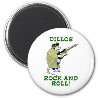 Dillos Rock and Roll Refrigerator Magnets