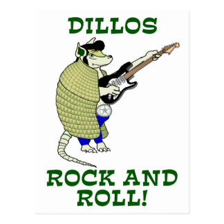 Dillos Rock and Roll Post Cards