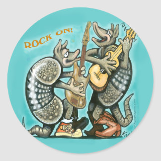 Dillos Rock Classic Round Sticker