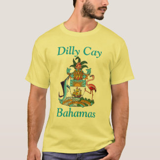 Dilly Cay, Bahamas with Coat of Arms T-Shirt