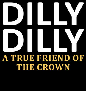 dilly dilly a true friend of the crown snowflake pewter christmas ornament