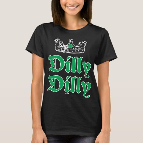 Dilly Dilly St Patricks Day Beer Pub Shamrock Clo T_Shirt