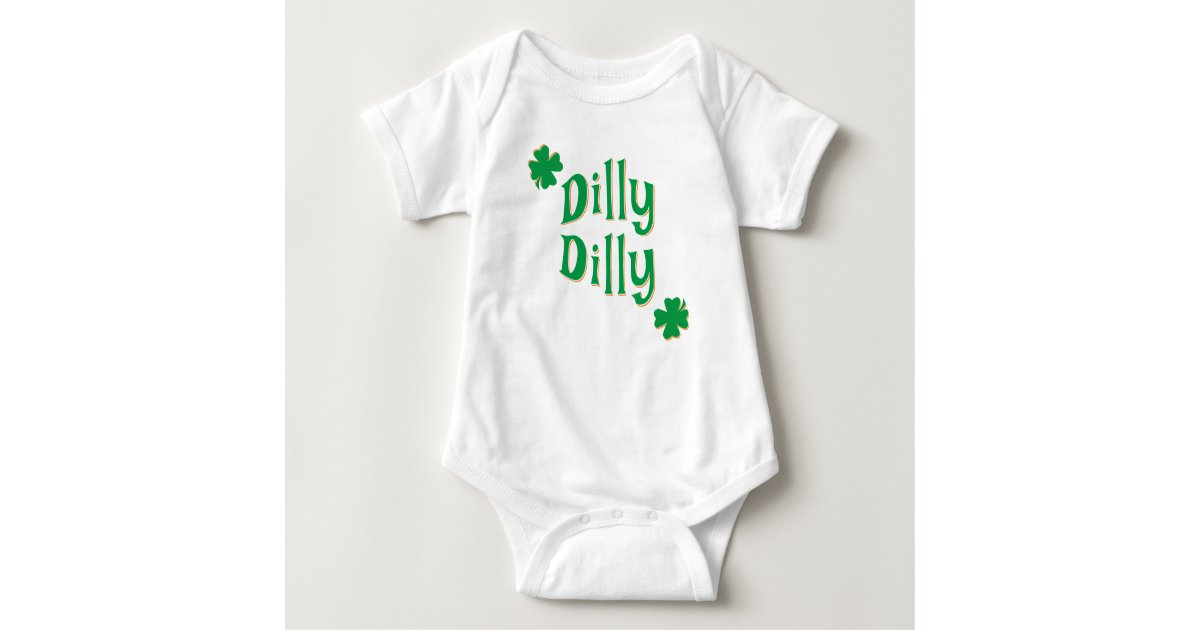 0e4822b7a9 Dilly Dilly ST. Patrick's Day & Green Clover Baby Bodysuit | Zazzle.com