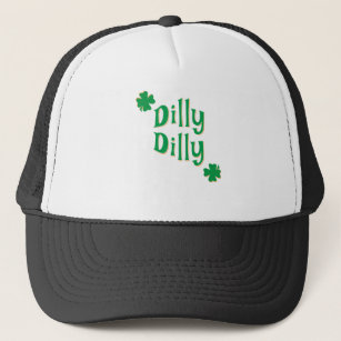 50594de9648f6 Dilly Dilly ST. Patrick s Day   Green Clover Trucker Hat