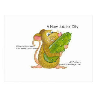 Dilly holding pickle, A NEW JOB FOR DILLY Post Cards