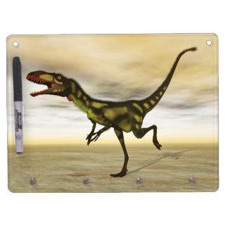 Dilong dinosaur - 3D render Dry Erase Board With Keychain Holder