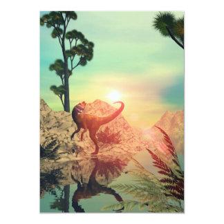 Dilophosaurus 5x7 Paper Invitation Card