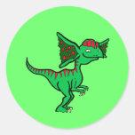 Dilophosaurus de Gree Pegatina Redonda