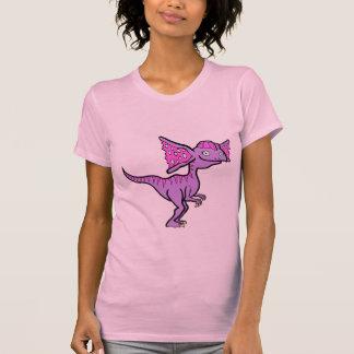 Dilophosaurus púrpura camiseta