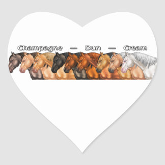 Dilute Horses Heart Sticker