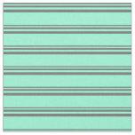 [ Thumbnail: Dim Gray and Aquamarine Pattern Fabric ]