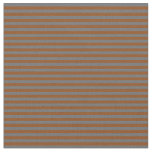 [ Thumbnail: Dim Gray and Brown Colored Stripes Fabric ]