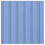 [ Thumbnail: Dim Gray and Cornflower Blue Colored Lines Fabric ]