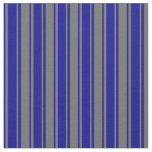 [ Thumbnail: Dim Gray and Dark Blue Colored Pattern Fabric ]