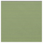 [ Thumbnail: Dim Gray and Green Colored Pattern of Stripes Fabric ]