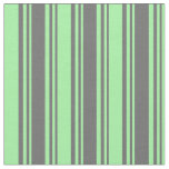 [ Thumbnail: Dim Gray and Green Lined Pattern Fabric ]