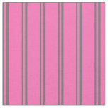[ Thumbnail: Dim Gray and Hot Pink Lined Pattern Fabric ]