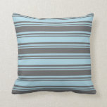 [ Thumbnail: Dim Gray and Light Blue Colored Pattern Pillow ]