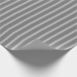 [ Thumbnail: Dim Gray and Light Grey Colored Lined Pattern Wrapping Paper ]