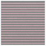 [ Thumbnail: Dim Gray and Light Pink Colored Lines Fabric ]