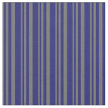 [ Thumbnail: Dim Gray and Midnight Blue Colored Pattern Fabric ]