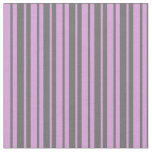 [ Thumbnail: Dim Gray and Plum Colored Stripes Fabric ]