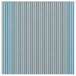 [ Thumbnail: Dim Gray and Sky Blue Colored Striped Pattern Fabric ]