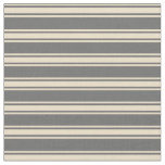 [ Thumbnail: Dim Gray and Tan Colored Lined/Striped Pattern Fabric ]