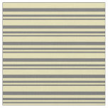 [ Thumbnail: Dim Gray and Tan Colored Pattern Fabric ]