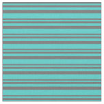 [ Thumbnail: Dim Gray and Turquoise Colored Pattern Fabric ]