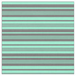 [ Thumbnail: Dim Gray & Aquamarine Colored Stripes Fabric ]